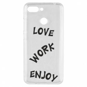 Etui na Xiaomi Redmi 6 Love. Work. Enjoy