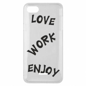 Etui na Xiaomi Redmi 6A Love. Work. Enjoy