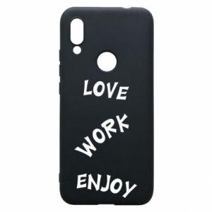 Etui na Xiaomi Redmi 7 Love. Work. Enjoy