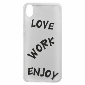 Etui na Xiaomi Redmi 7A Love. Work. Enjoy