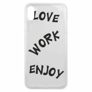Etui na iPhone Xs Max Love. Work. Enjoy