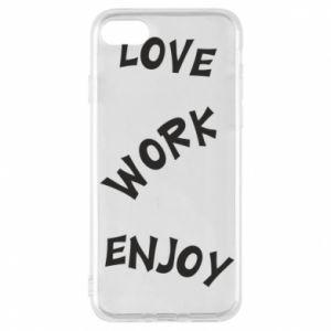 Etui na iPhone 8 Love. Work. Enjoy