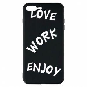 Etui na iPhone 8 Plus Love. Work. Enjoy
