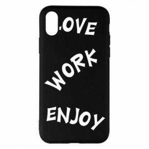 Etui na iPhone X/Xs Love. Work. Enjoy