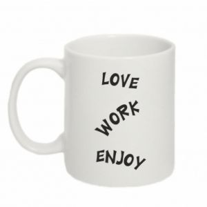 Kubek 330ml Love. Work. Enjoy