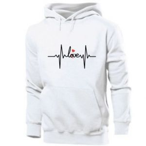 Men's hoodie Love and heart