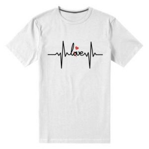 Męska premium koszulka Miłość i serce