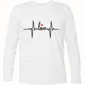 Koszulka z długim rękawem Miłość i serce