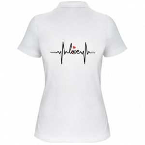 Women's Polo shirt Love and heart