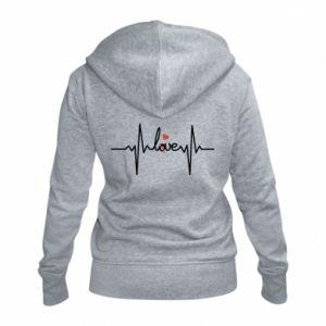 Damska bluza na zamek Miłość i serce - PrintSalon
