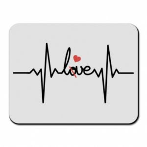 Podkładka pod mysz Miłość i serce - PrintSalon