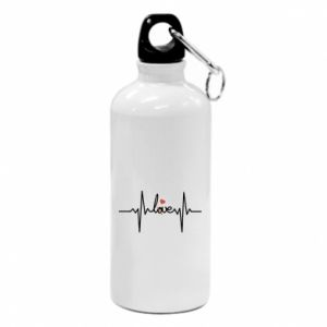 Water bottle Love and heart