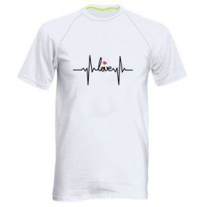 Men's sports t-shirt Love and heart