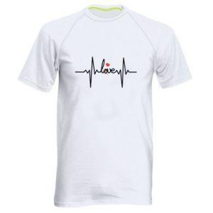 Męska koszulka sportowa Miłość i serce - PrintSalon