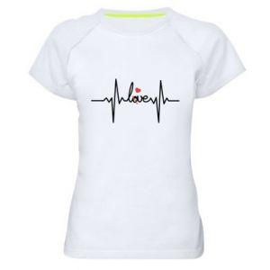 Damska koszulka sportowa Miłość i serce