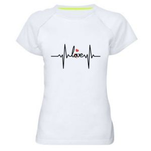 Damska koszulka sportowa Miłość i serce - PrintSalon