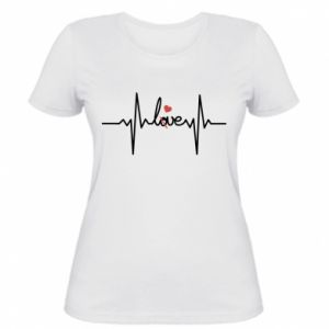 Damska koszulka Miłość i serce