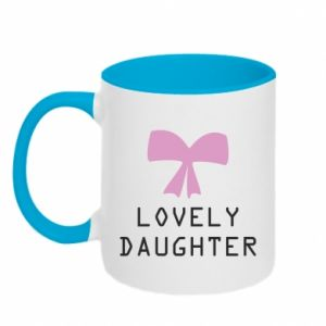 Two-toned mug Lovely daughter