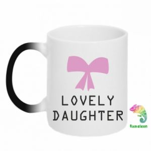 Kubek-kameleon Lovely daughter - PrintSalon