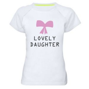 Women's sports t-shirt Lovely daughter