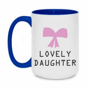 Two-toned mug 450ml Lovely daughter