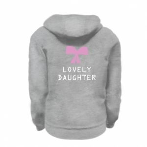 Kid's zipped hoodie % print% Lovely daughter