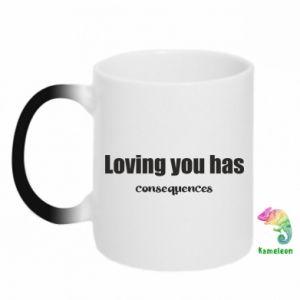 Kubek-kameleon Loving you has consequences