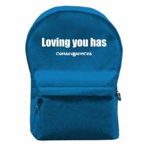 Plecak z przednią kieszenią Loving you has consequences
