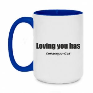 Kubek dwukolorowy 450ml Loving you has consequences