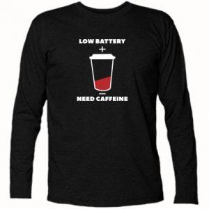 Koszulka z długim rękawem Low battery