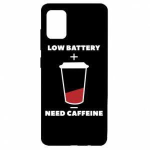 Etui na Samsung A51 Low battery