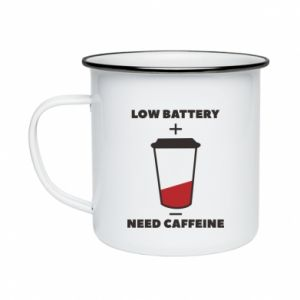 Enameled mug Low battery