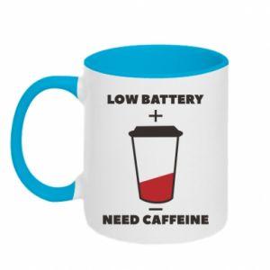 Kubek dwukolorowy Low battery