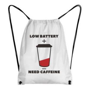 Backpack-bag Low battery