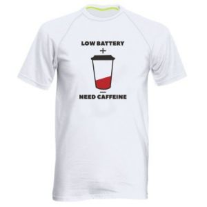 Men's sports t-shirt Low battery