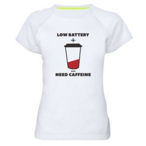 Women's sports t-shirt Low battery