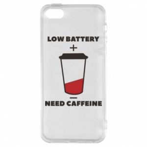 Phone case for iPhone 5/5S/SE Low battery