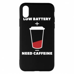 Phone case for iPhone X/Xs Low battery
