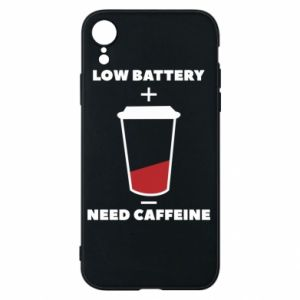 Phone case for iPhone XR Low battery