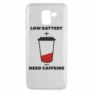 Phone case for Samsung J6 Low battery