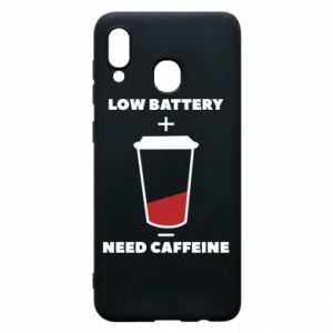 Phone case for Samsung A20 Low battery