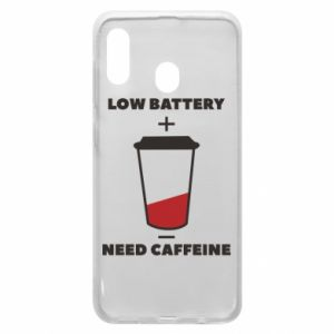 Phone case for Samsung A30 Low battery