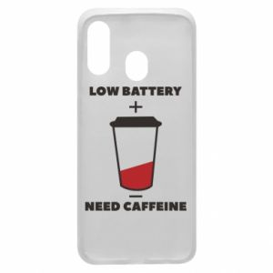 Phone case for Samsung A40 Low battery