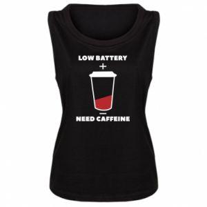 Damska koszulka bez rękawów Low battery