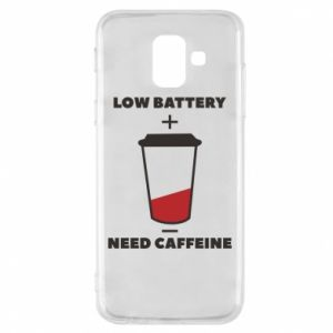 Phone case for Samsung A6 2018 Low battery