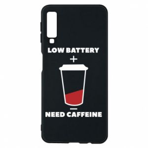 Phone case for Samsung A7 2018 Low battery