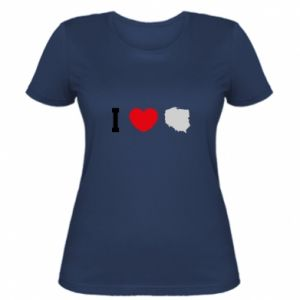Koszulka damska Lubię Polskę