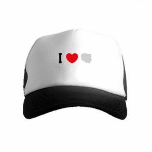 Kid's Trucker Hat love Poland