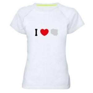 Koszulka sportowa damska Lubię Polskę