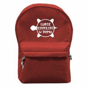 Plecak z przednią kieszenią Lubię siedzieć w domu